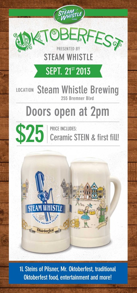 Steamwhistle Oktoberfest party