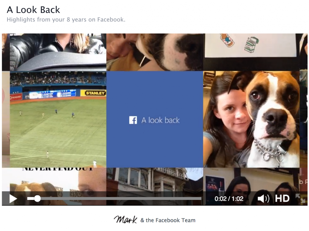 Facebook Look Back Birthday